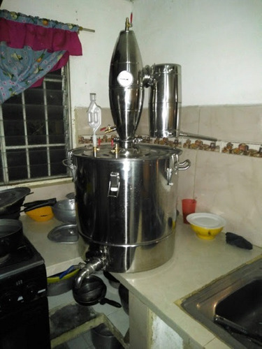 Alambique Destilador Profecional 70l Electrico Inoxidable