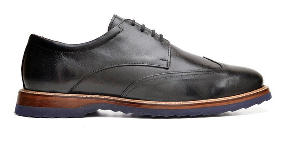 Sapato Derby Génova Preto