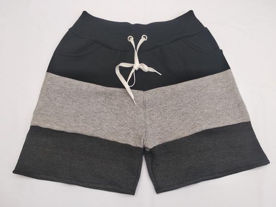 Short Moletom Plus Size Feminino Kit 2 Peças Grete Grátis