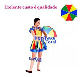 10 Frevo Mini Guarda Chuva Promoção Coloridas Sombrinha@ L@