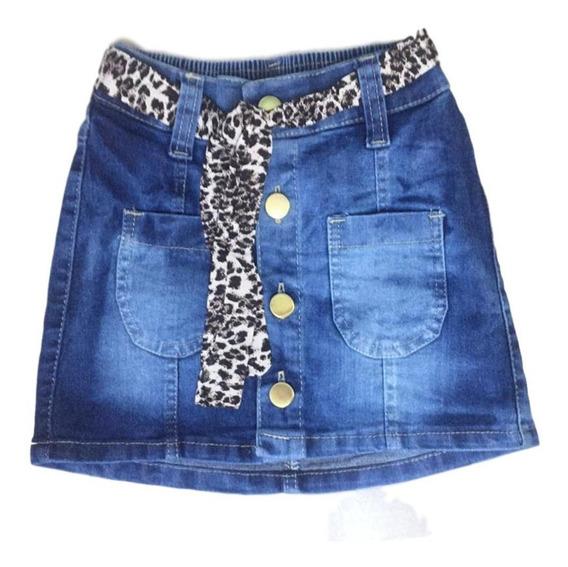 Saia Jeans Infantil Feminina Menina Revenda Atacado