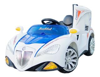 Auto Eléctrico Niños 2 Motores - Luces Led - Radio Usb