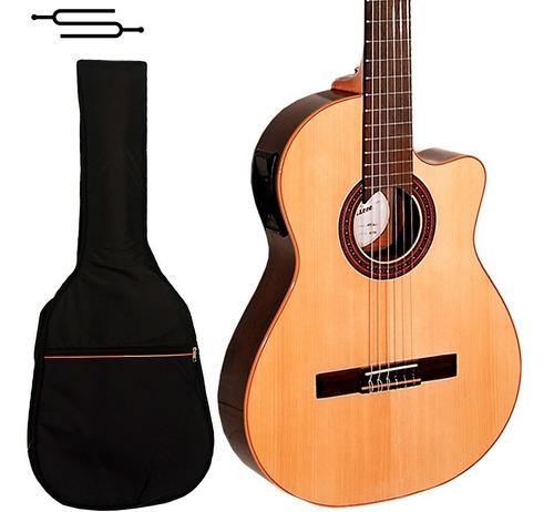 Imagen 1 de 7 de Guitarra Electro Criolla Fonseca 41k Media Caja+funda Cuotas