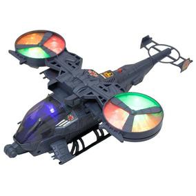 Helicóptero Brinquedo Bater E Volta Com Luzes Som Realista
