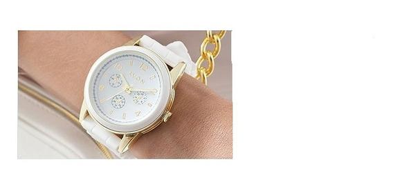 Relógio De Pulso Feminino Avon Renew Branco