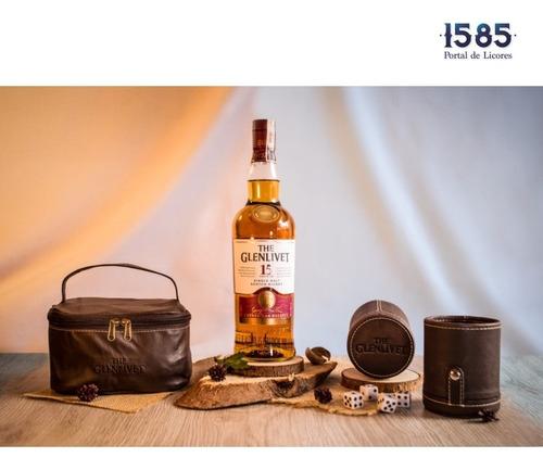 Pack Glenlivet 15 Años Botella + Kit D - mL a $301