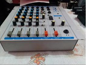 Mesa De Som Mixer Oneal Omx412 Com 1 Auxiliar 4 Canais Bivol