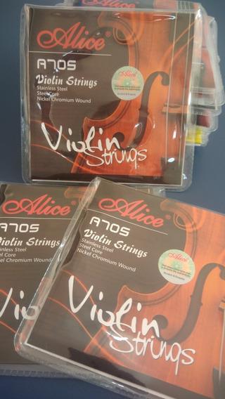 Jogo De Cordas Para Violino Alice A705