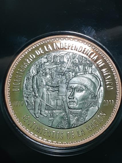Medalla Bimetalica Independencia Y Revolución Mexicana Nueva