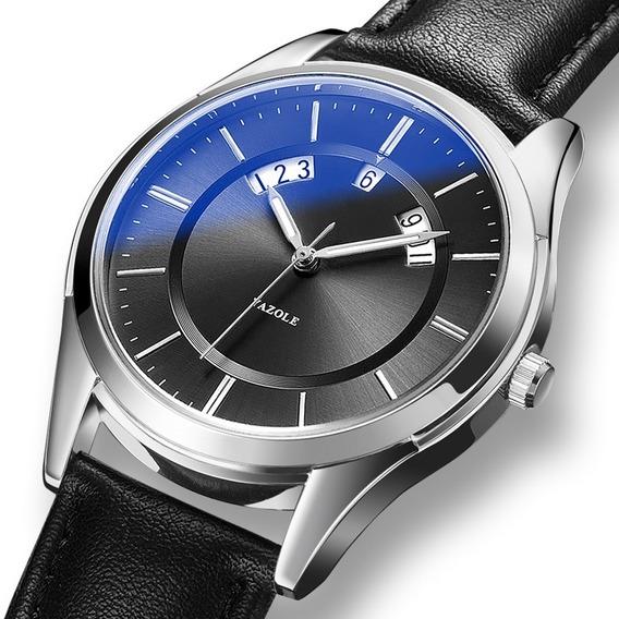 Reloj Para Hombre Calendario Con Caja Elegante Casual Yazole