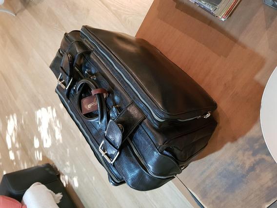 Impecable Bolso De Viaje Rosenthal Decada 70´ Antiguo Negro!