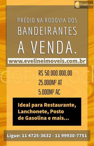 Predio Comercial A Venda Na Rodovia Dos Bandeirantes 25.000m² - V681