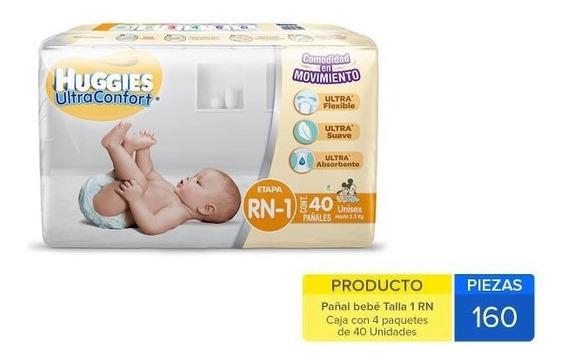 Caja Huggies Ultra Confort Rn 160 Uni.