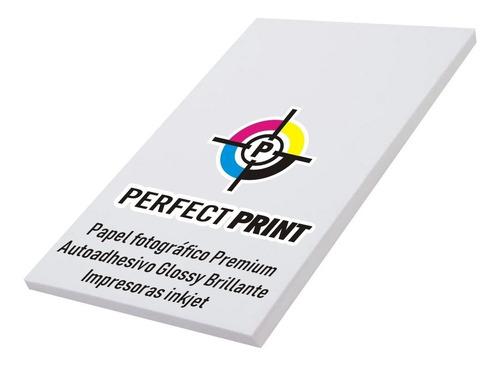 Imagen 1 de 5 de Papel Fotografico Autoadhesivo A4 Brillante Glossy 20 Hojas Para Impresoras Inkjet / Tinta
