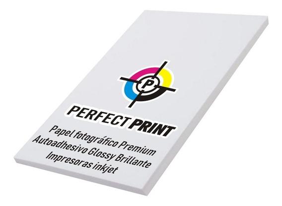 Papel Fotografico Autoadhesivo A4 Brillante Glossy 20 Hojas Para Impresoras Inkjet / Tinta
