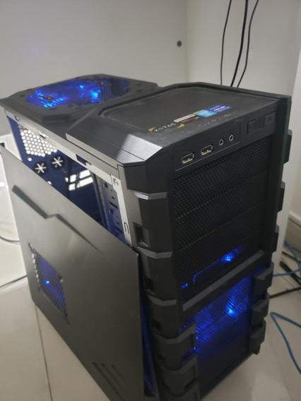 Gabinete Cooler Master + 4 Cooler Azul