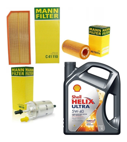 Imagen 1 de 3 de Kit Filtros + Aceite Helix Ultra 5w40 Vw Vento 2.0 Tfsi
