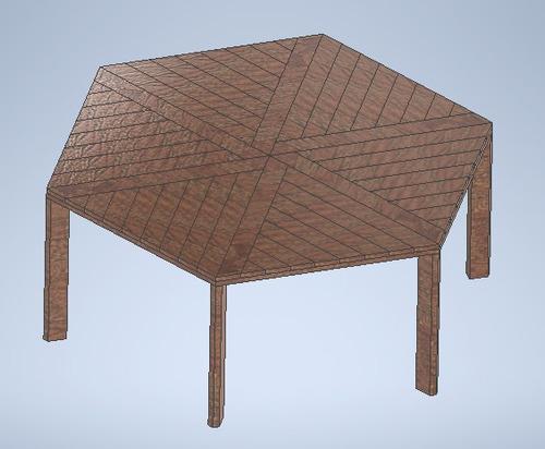 Imagem 1 de 3 de Projeto: Mesa Sextavada