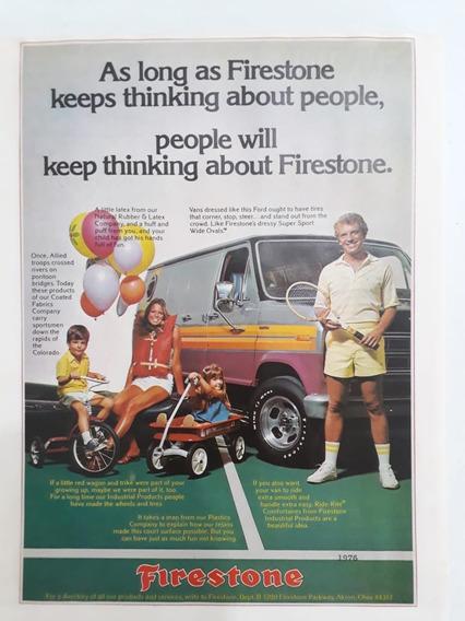 Propaganda Antiga Pneus Firestone 1976 Raro Publicidade