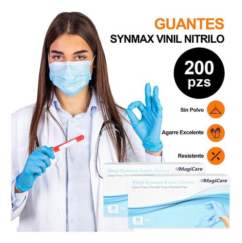 Imagen 1 de 5 de Guante Vinil Synamax Nitrilo Libre De Latex