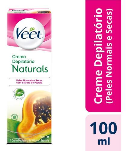 Creme Depilatório Corporal Veet Naturals Papaia - 100ml
