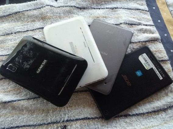 Lot 4 Tablet 7 Variados Para Conserto Ou Uso Das Peças