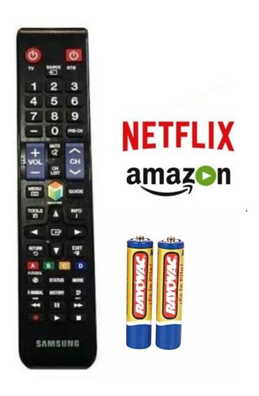 Controle Tv Samsung Smart Com Pilhas Com Amazon Netflix
