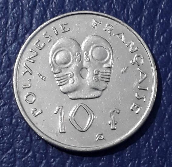 Moneda 10 Francos Polinesia Francesa Año 1983.