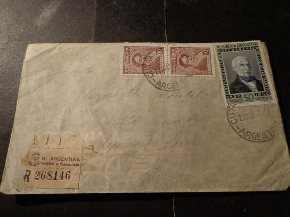 Argentina- Cutralcó-a-dept. Tumbes/ Perú-registrada-1950