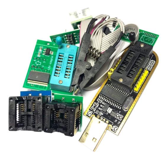 Kit Programador Usb Ch341 Pinza Adapt 1,8v Zoc 150mil 200mil