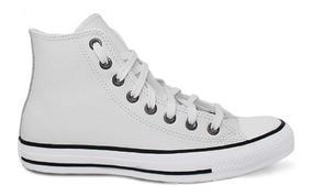 Tênis Converse All Star Branco Cano Alto Couro Ct04490001