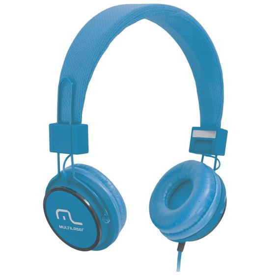 Fone De Ouvido Headphone Fun - Azul - Multilaser