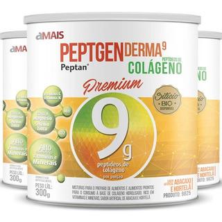 Kit 3 Colágeno Hidrolisado Premium Chá Mais - Abacaxi - 300g
