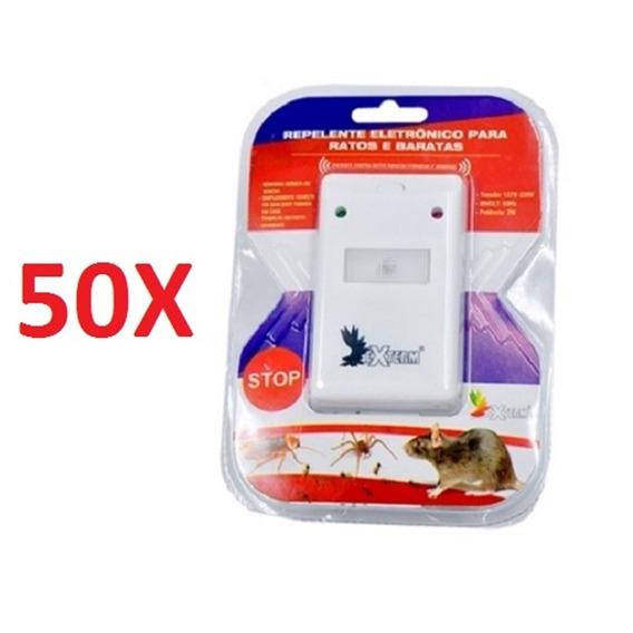 Kit 50 Repelente Eletronico Para Ratos Formiga Aranha Barata