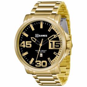 Promoção Relógio X Games Dourado Xmgs1018 Lindo + Frete