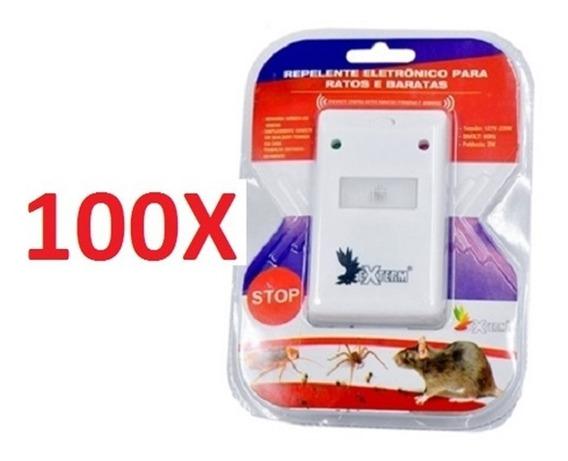 Kit 100 Aparelho Sonoro Contra Ratos E Baratas Repelente