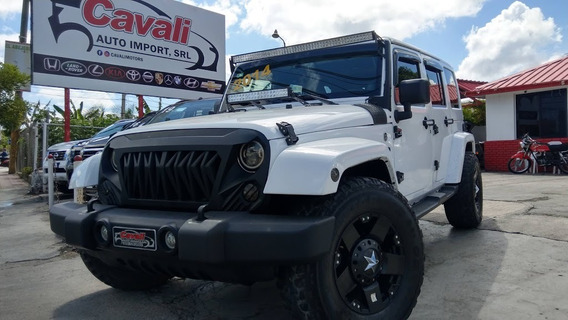 Jeep Wrangler Unlimited Sahara Blanco 2014