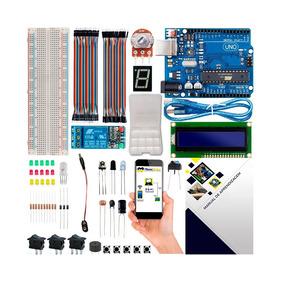 Kit Arduino Uno R3 Básico Iniciante Automação Lcd + Brinde