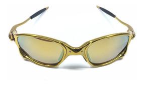 Oculos Double Xx Dourado Dourado + Saquinho + Caixa