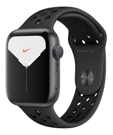 Apple Watch 5 Alumínio Com Pulseira Nike Preta 44mm Gps