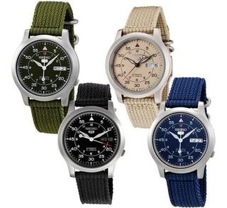 Reloj Seiko 5 Automatico Militar Snk809 Snk807 Snk805 Snk803