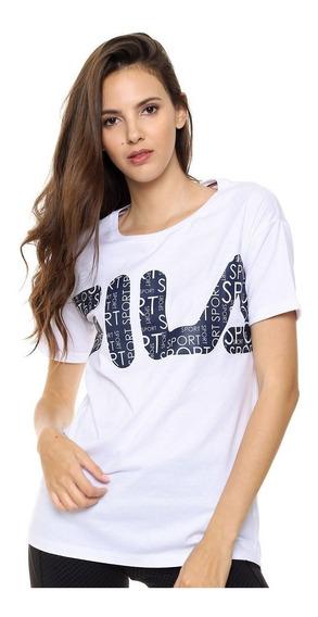 Fila Remera M/c Lifestyle Mujer Big Marino - Blanco