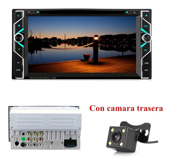 Estéreo Para Toyota Doble Din Bluetooth Dvd Fm Tv