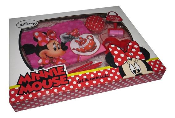 Set Cocinerita Minnie Delantal Moldes Y Recetario Km901