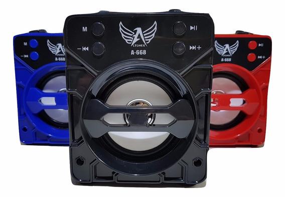 Caixa De Som Bluetooth Amplificadora A668 Fm Alto Falante
