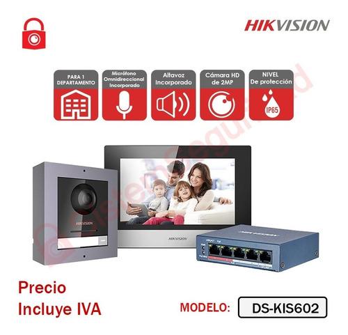 Imagen 1 de 3 de Kit Videoportero Ip 2mp Ds-kis602 Video Portero Hikvision