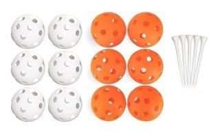 Callaway - Kit Treino Golf - 48 Bolas Perfuradas + 12 Tee