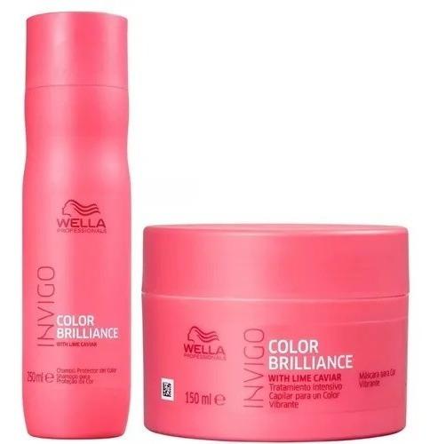 Kit Wella Invigo Brilliance Shampoo 250ml + Máscara 150ml