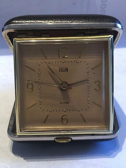 Elgin Reloj Despertador De Viaje, Mecanico, De Colección