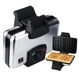 Waffle Maker Zz Wf311 Con Placa Antiadherente 1200w, Negro /